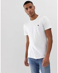 Abercrombie & Fitch - Icon Logo Crew Neck T-shirt In White - Lyst