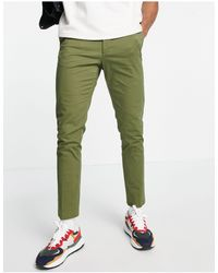 New Look Зауженные Чиносы Цвета Хаки -зеленый Цвет