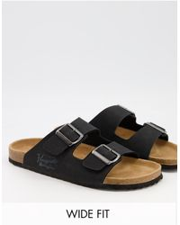 Original Penguin - Wide Fit Buckle Footbed Sandals - Lyst