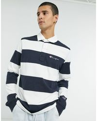 Champion Long Sleeve Polo - Blue