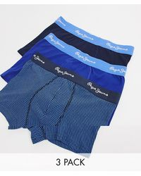 Pepe Jeans Ethan 3 Pack Trunks - Blue