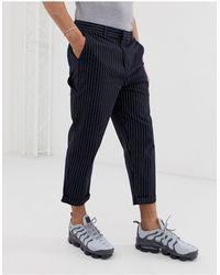 Pull&Bear Stripe Chino - Blue