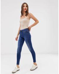 ONLY High Waist Authentic Dark Blue Skinny Jean