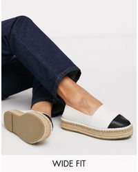 ASOS Wide Fit Julee Flatform Espadrilles - Natural