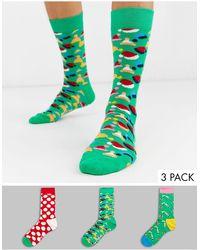Happy Socks Holiday Tree - Set Van 3 Paar Sokken - Meerkleurig