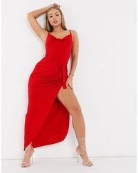 AX Paris - Красное Платье Макси -красный - Lyst