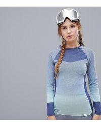 Roxy - Passana Long Sleeve Top In Blue - Lyst