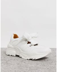 Lost Ink Lace Up Trainer - White