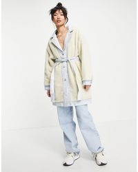 Levi's Reversible Belted Sherpa Coat - Multicolour