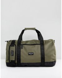Nicce London - Holdall In Khaki With Contrast Panels - Lyst