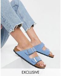 Birkenstock Голубые Сандалии Из Искусственной Кожи Exclusive Arizona-синий