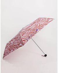 Monki Paraplu Met Zebraprint - Roze
