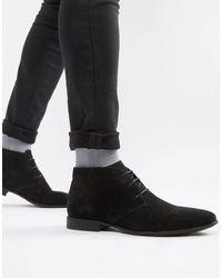 ASOS - Черные Ботинки Чукка Из Искусственной Замши - Lyst