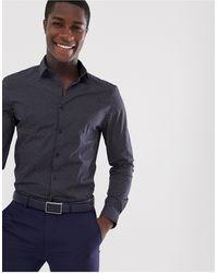 ASOS Slim Fit Work Shirt - Blue