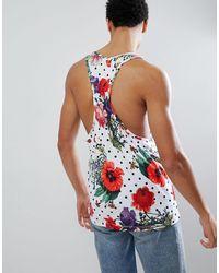 Hype Camiseta ajustada con diseño floral - Multicolor