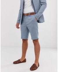 Only & Sons Short de costume - Bleu