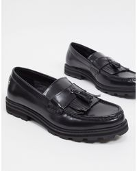 Ben Sherman Chunky Tassel Loafers - Black