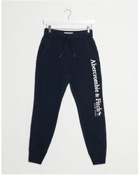Abercrombie & Fitch Classic Side Logo jogger - Blue
