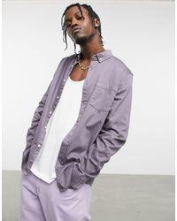 ASOS Slim Fit Denim Shirt - Purple