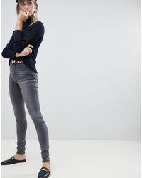 ONLY Skinny Jeans Met Hoge Taille - Grijs