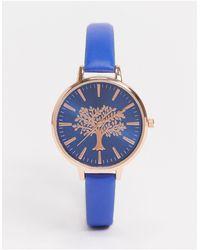 Brave Soul Часы С Циферблатом Синего Цвета С Покрытием Цвета Розового Золота -синий