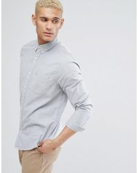 Hollister | Logo Pocket Buttondown Oxford Slim Fit Shirt In Grey | Lyst