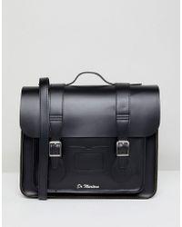 Dr. Martens 15 Inch Leather Satchel - Black