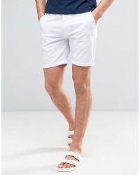 ASOS - Slim Chino Shorts In White - Lyst