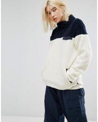 Dickies - Oversized High Neck Fleece Sweatshirt In Colour Block - Lyst