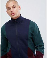 ASOS Jersey Trainingsjack Met Kleurvlakken - Blauw