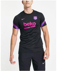 Nike Football Fc Barcelona Strike T-shirt - Black