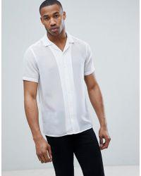 ASOS - Regular Fit Revere Collar Sheer Shirt - Lyst