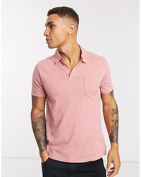 Abercrombie & Fitch Washed Polo - Pink