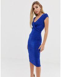 Lipsy Pencil Dress - Blue
