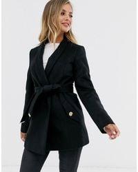Lipsy Cappotto elegante nero a portafoglio
