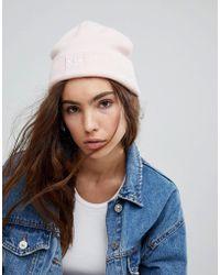 adidas Originals - Embroidered Logo Beanie In Pale Pink - Lyst