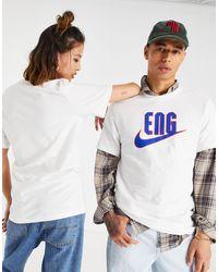 Nike Football Euro 2020 - Angleterre - T-shirt avec logo virgule - Blanc