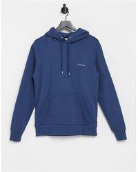 Calvin Klein Худи Синего Цвета С Вышитым Логотипом -голубой - Синий