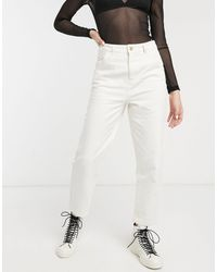 ONLY Mom Jean With Cargo Pocket - White