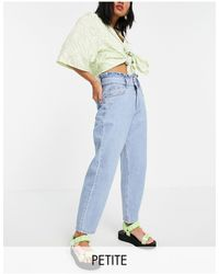 Miss Selfridge Mom Jean With Frill Top - Blue