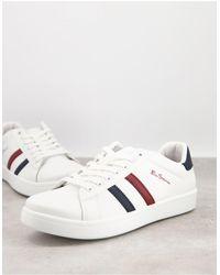 Ben Sherman Side Stripe Trainers - White