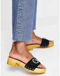 Schuh Черные Клоги Vanessa-черный - Синий