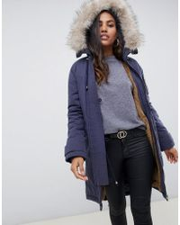 ASOS - Luxe Parka With Faux Fur Trim - Lyst