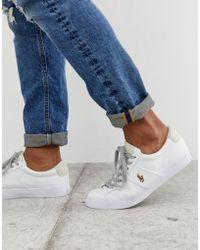 21afa1cb343d1e Polo Ralph Lauren - Sayer - Sneakers di tela bianche con logo multi - Lyst