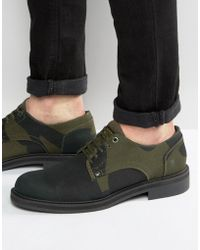 G-Star RAW Camo Lace Up Derby Shoes - Green