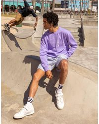 adidas Originals – summer club – oversize-sweatshirt - Lila