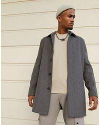 ASOS – Mantel aus grauer Wollmischung