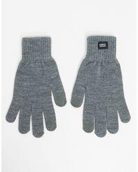 Jack & Jones Серые Перчатки -серый