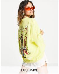 Collusion Unisex - T-shirt oversize - Giallo