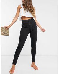 Urban Bliss Jean skinny taille haute - Noir